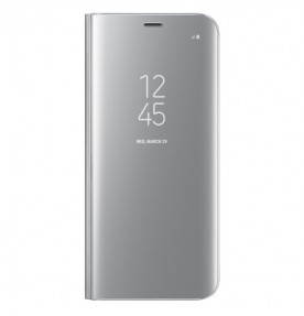 Husa Clear View Standing Cover Samsung Galaxy S8 Plus, Silver